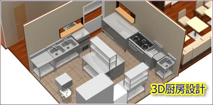 3Dカフェレイアウト設計図面