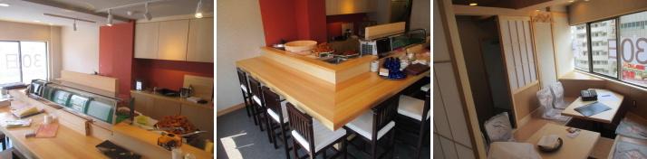 寿司屋内装工事