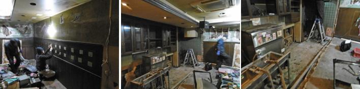 寿司店内装工事