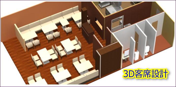 カフェ設計図面3D