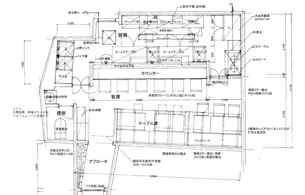 寿司店レイアウト図面